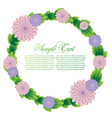 with flower frame vector image