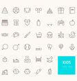 Kids Outline Icons for web and mobile apps vector image