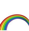 rainbow isolated on white background vector image