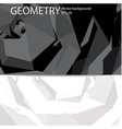 Business geometry background vector image