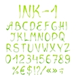 Painted alphabet with numbers vector image