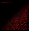 abstract black and red subtle lattice square vector image vector image