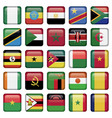 African Flags Square Icons vector image vector image