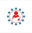 America people circle Star USA logo icon vector image vector image