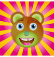 Bear toy poster vector image vector image