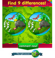 beetle caterpillar 9 differences vector image vector image