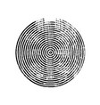 black grunge concentric circle vector image vector image