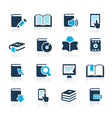 Book Icons Azure Series vector image vector image