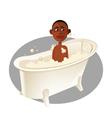 boy bath vector image vector image