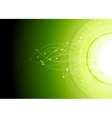 Bright hi-tech abstract green background vector image