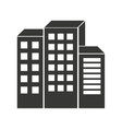 building silhouette isolated icon design vector image