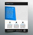 Business flyer template - modern sleek design vector image vector image