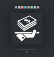 business icon - dollars vector image