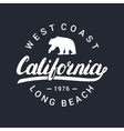 california handwritten lettering tee apparel vector image