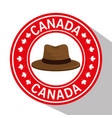 canada seal with hat vector image