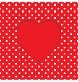Card heart shape Polka-dot background vector image