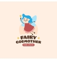 cartoon fairy godmother logo vector image vector image
