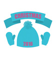 Christmas of 2016 Set of winter clothing Knitted vector image
