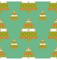 Christmas tree gifts seamless pattern vector image vector image