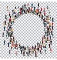 circle people sign 3d vector image