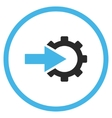 Cog Integration Flat Icon vector image