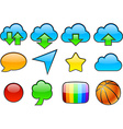 color glossy icons vector image vector image