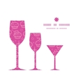colorful cupcake party three wine glasses vector image
