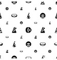 costume icons pattern seamless white background vector image vector image
