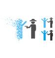 decomposed pixelated halftone gentleman crime icon vector image vector image
