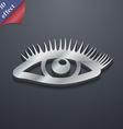 eyelashes icon symbol 3D style Trendy modern vector image