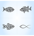Fish an icon vector image vector image