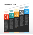 Flat vertical infographics options banner set vector image vector image