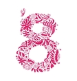 Floral number 8 for your design vector image vector image