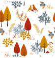 forest trees seamless pattern hand drawn vector image vector image