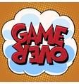 Game over comic bubble retro text vector image vector image