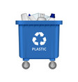 garbage plastic container mockup realistic style vector image