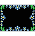 Gem Flowers Frame vector image