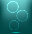 Glassy infographic circles icons on cyan vector image vector image
