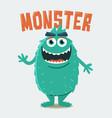 green hairy monster vector image