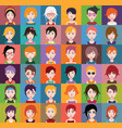 Group people men and women avatar icons