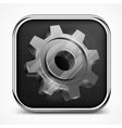 Icon with gear on white vector image vector image