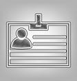 id card sign pencil sketch imitation vector image vector image