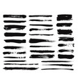 ink brush stroke dry paint long smear black vector image