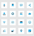 internet colorful icons set collection of cloud vector image vector image