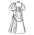 late 19th century dress apron like drape vintage vector image