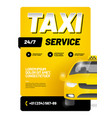 layout design template for advertising taxi vector image