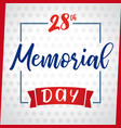 memorial day greeting card light star vector image vector image
