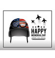 military helmet and airplanes to memorial day vector image