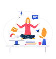 mindfulness at work - colorful flat design style vector image