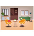 modern interior living room full comfortable vector image vector image
